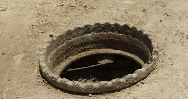 اضبط مخالفة.. بالوعة بدون غطاء تهدد حياة أهالى قرية شبرا اليمن فى الغربية