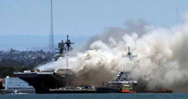 انفجار واشتعال النيران فى سفينة بونهوم ريتشارد