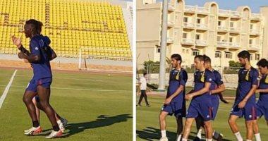 لاعبو طنطا يخوضون أول مران بالملعب الفرعى فى برج العرب