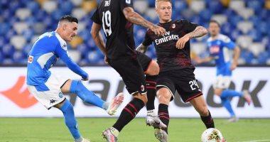 ملخص وأهداف مباراة نابولي ضد ميلان 2-2 في الدوري الإيطالي