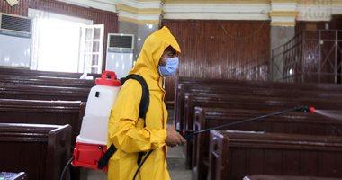 إجراءات احترازية للوقاية من فيروس كورونا بكلية الآداب جامعة القاهرة