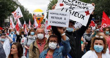 آلاف العاملين فى فرنسا يتظاهرون ضد تسريحهم بسبب تداعيات فيروس كورونا