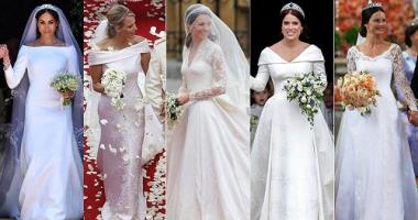 شاهد.. أجمل 15 فستان زفاف ملكى من بريطانيا لليابان.. بينهم الملكة رانيا