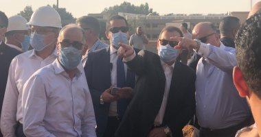 وزير البترول من موقع حريق ماسورة بترول طريق الإسماعيلية