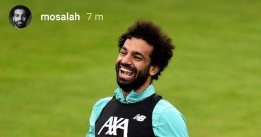 ابتسامة عريضة لمحمد صلاح فى تدريبات ليفربول قبل لقاء أرسنال غدا