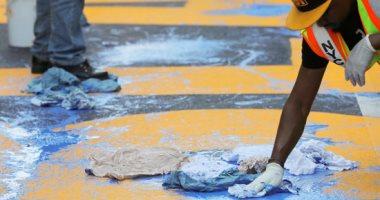 """إعادة عبارة """"حياة السود مهمة"""" أمام برج ترامب بعد تخريبها"""