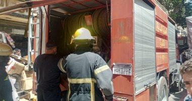 السيطرة على حريق أتوبيس نقل عام أعلى الطريق الدائرى دون إصابات