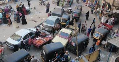 خوفا من كورونا.. شكوى من زحام بسوق عشوائى بترعة عبد العال بفيصل بالجيزة
