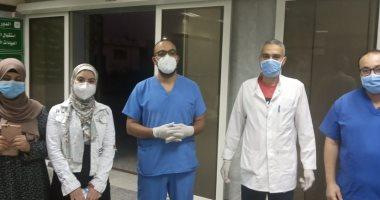 صحة الدقهلية: مغادرة 12 مستشفى تمى الأمديد بعد شفائهم من كورونا.. صور