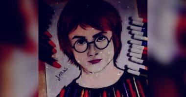 """""""شهد"""" من دمياط  تشارك صحافة المواطن عددا من اللوحات تبرز موهبتها الفنية"""