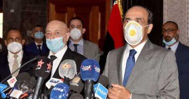 رئيس البرلمان الليبى يدين التدخل العسكرى التركى فى الأراضى الليبية .. صور
