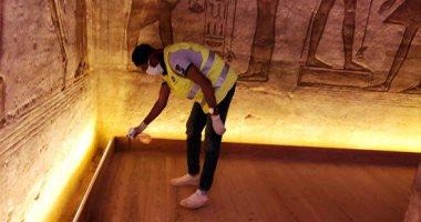 شاهد نظام الإضاءة الجديد بمعبدى أبوسمبل.. صور