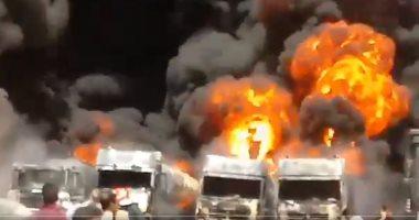 انفجار يتسبب في حريق بمصنع للبتروكيماويات جنوب غرب إيران