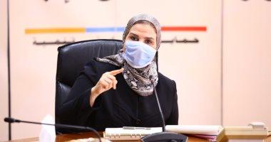 وزيرة التضامن الاجتماعى تستعرض أعمال وخطط تطوير بنك ناصر