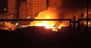 السيطرة على حريق بسطح منزل بدائرة قسم ثان سوهاج