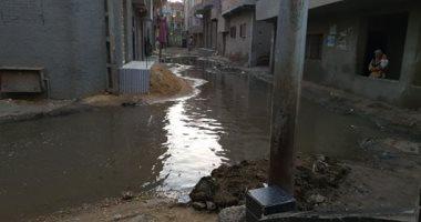 اهالى الجابرية في المحلة يشكون غرق القرية بمياه الصرف الصحى