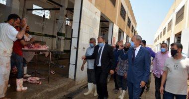 محافظ القليوبية يتفقد مجزر كفر سعد وكورنيش النيل ببنها في أول أيام عيد الأضحى