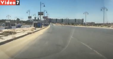 سيولة مرورية أمام السيارات بشارع التسعين فى التجمع الخامس
