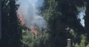 فيديو.. حرائق هائلة في الغابات بالقدس بسبب ارتفاع درجات الحرارة
