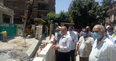 وزير النقل يتابع أعمال إصلاح عمارة الشربتلى بالزمالك