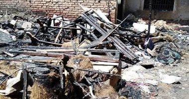 السيطرة على حريق بورشة نجارة امتد إلى ثلاث عمارات مجاورة في الزقازيق.. صور