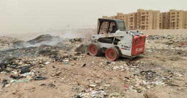 السيطرة على حريق للمخلفات والقمامة بحى الصداقة الجديدة بأسوان.. صور