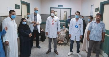 تعافى 14 مصابا بكورونا وخروجهم من مستشفى الواسطى ببنى سويف