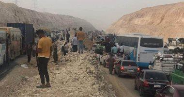 """""""محمود"""" يناشد المسئولين سرعة الانتهاء من رصف الطريق الصحراوى لخط الصعيد الشرقى"""