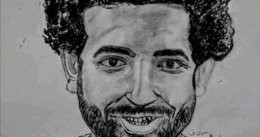 """محمد صلاح وطبيب الغلابة.. لوحات عبرت بها """"جورجيت"""" من سوهاج عن موهبتها الفنية"""