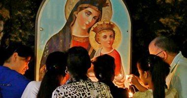 """صورة اليوم.. """"السلام لكِ يا مريم يا أم النور"""".. بداية صيام العذراء"""
