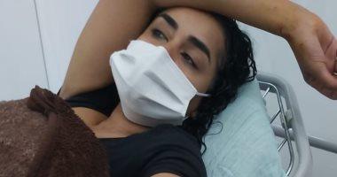 أول صورة للفنانة نانسى صلاح بعد إصابتها فى تفجيرات بيروت