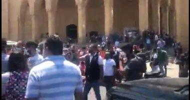 محاولة اعتداء على سعد الحريرى خلال زيارته مسجد محمد الأمين.. فيديو