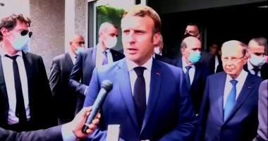 فيديو.. ماكرون يصل لبنان فى أول زيارة بعد انفجار  مرفأ بيروت