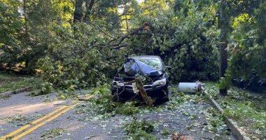 """أثار كارثية بسبب إعصار """"أسياس"""" بالولايات المتحدة الأمريكية"""