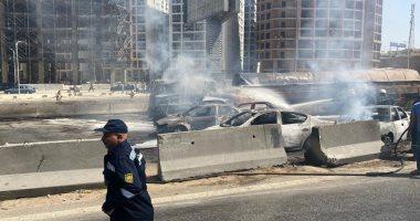 المرور: إعادة فتح دائرى المعادى بعد رفع حطام 7 سيارات نتيجة الحادث