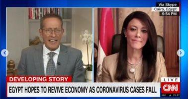 وزيرة التعاون الدولي تبرز مقابلتها مع CNN حول تأثير كورونا على قطاع الأعمال