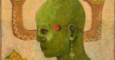 """100 لوحة مصرية.. """"المجنون الأخضر"""" إحدى إبداعات عبد الهادى الجزار"""