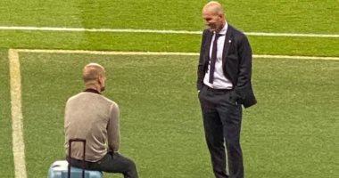 جوارديولا يكشف تفاصيل حواره مع زيدان بعد قمة مانشستر سيتي ضد ريال مدريد