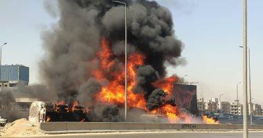 القبض على سائق سيارة المواد البترولية المتسبب في حادث دائرى المعادى