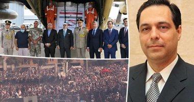 مصر تضمد جراح بيروت والحكومة تلفظ أنفاسها الأخيرة