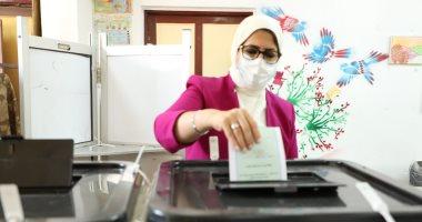 فيديو.. وزيرة الصحة تدلى بصوتها فى انتخابات مجلس الشيوخ.. وتؤكد: اللجان مؤمنة طبيا