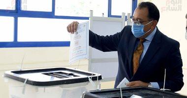 رئيس الوزراء يدلى بصوته فى انتخابات مجلس الشيوخ بزايد .. فيديو وصور