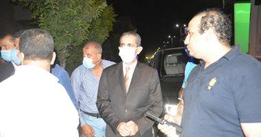 محافظ الغربية يتفقد موقع حريق بأحد مراكز الطب النفسى فى طنطا