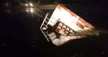 فيديو.. أول لقطات من غرق معدية قرية دميشلى فى البحيرة