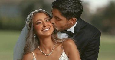 صور جديدة من حفل زفاف هند عبد الحليم على كريم قنديل