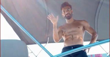 محمد صلاح وكوكا فى فسحة بحرية باليونان..فيديو