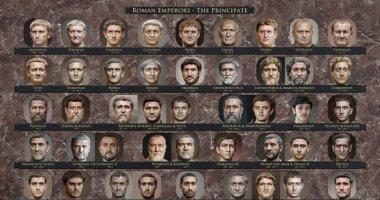 مصمم يستخدم الذكاء الاصطناعى والفن ليعرف ملامح أباطرة الرومان.. صور