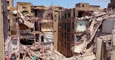 إخلاء عقارين مجاورين لمبنى قصر النيل المنهار من السكان لحين رفع الركام