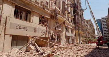 محافظة القاهرة: عقار قصر النيل المنهار يضم 5 طوابق على مساحة 1500 متر