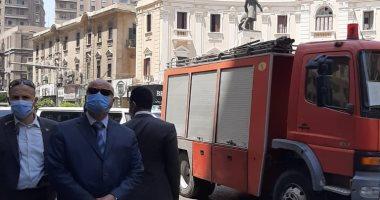 إنقاذ 18 شخصا فى حادث انهيار عقار بشارع قصر النيل.. صور